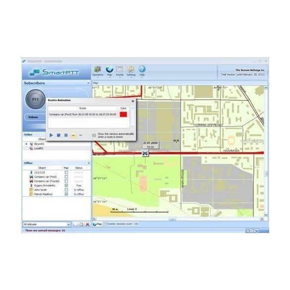 SmartPTT diszpécser rendszer